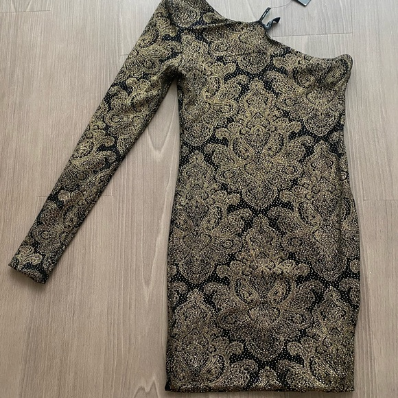 Marciano Gold Sparkle Dress